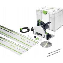 Festool TS 55 REBQ-Plus-FS invalzaag + 2x Liniaal FS1400/2 2x Koppelstuk FSV