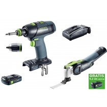 Festool set oscillerende machine + schroefboormachine + lader  + accu