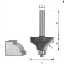 bovenrond frees Ø25,4mm H13,5mm