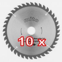 Cirkelzaag zaagblad hout en laminaat HL 160 48 tanden - set van 10 stuks OP=OP